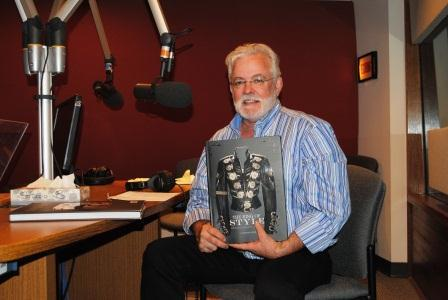 "Michael Bush in our studio, holding a copy of ""King of Style"""