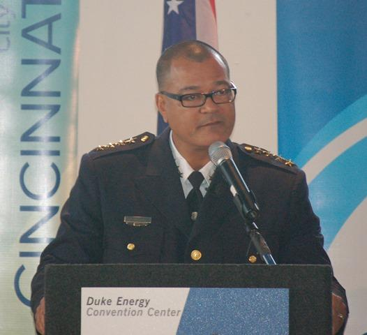 New Cincinnati Police Chief Jeffrey Blackwell