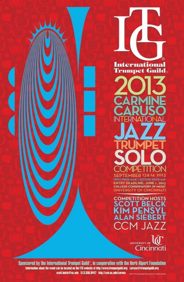 2013 Carmine Caruso International Jazz Trumpet Solo Competition is Saturday, September 14 at CCM's Corbett Auditorium