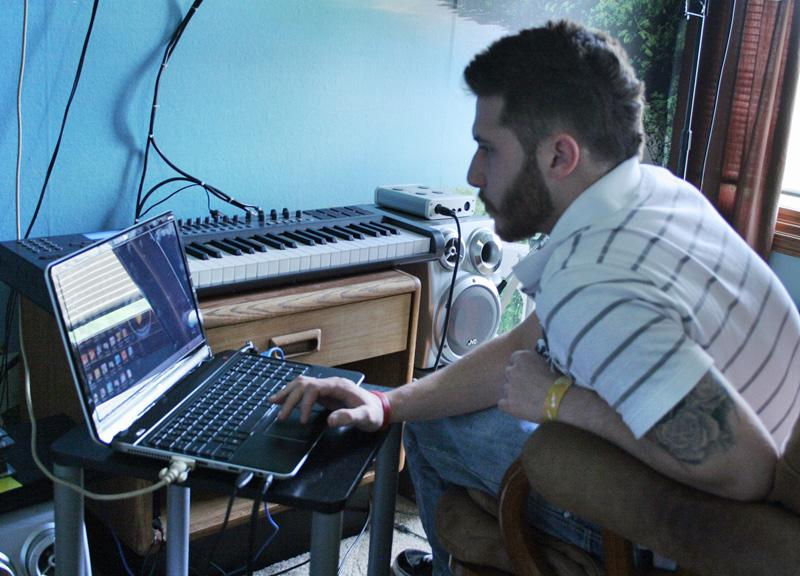 Chad Phelps, 26, has been composing music since he dropped out of high school in ninth grade. Now that he has his GED, he wants to go to college and become an audio engineer.