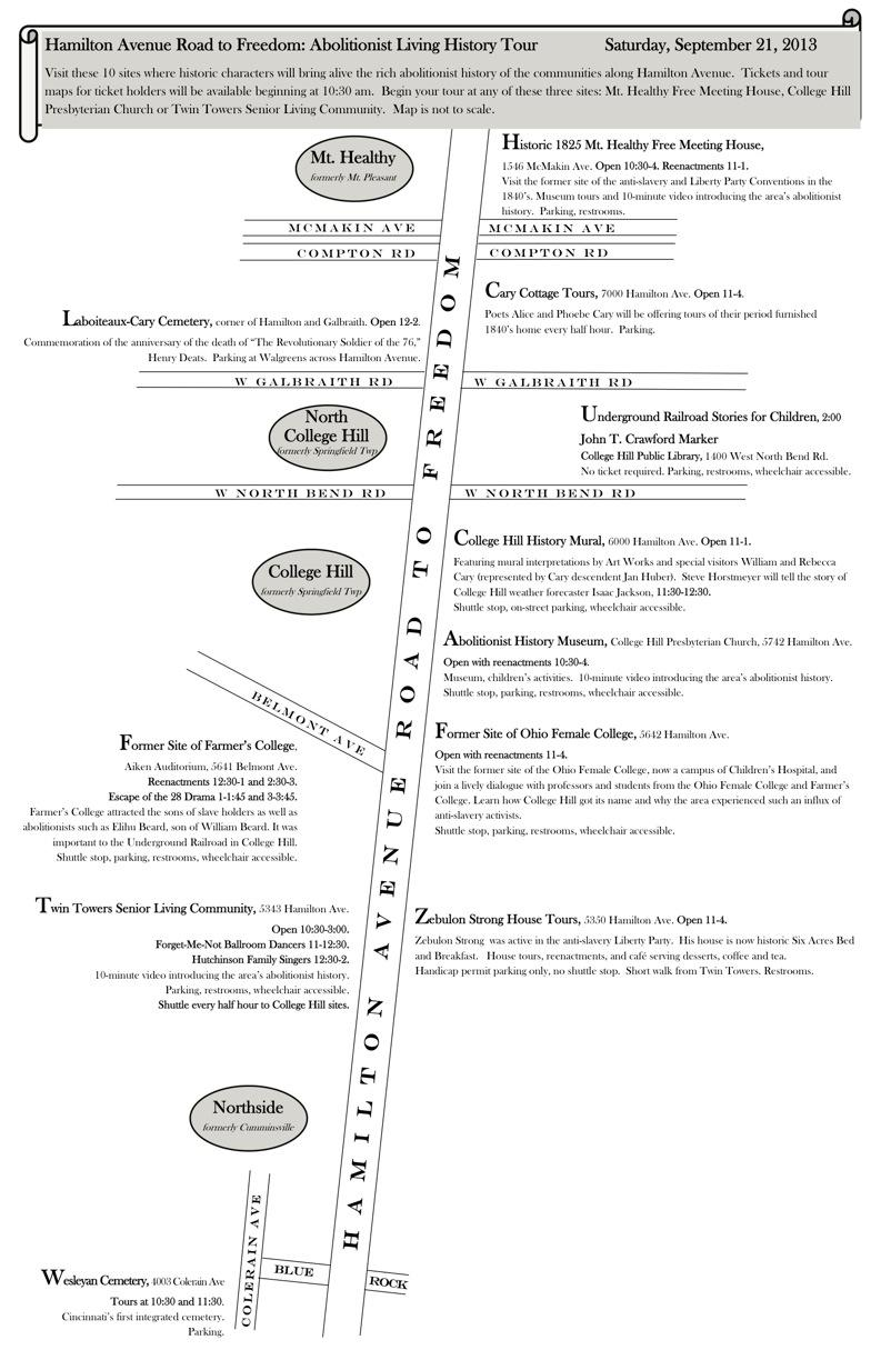 Hamilton Avenue Road to Freedom: Abolitionist Living History Tour