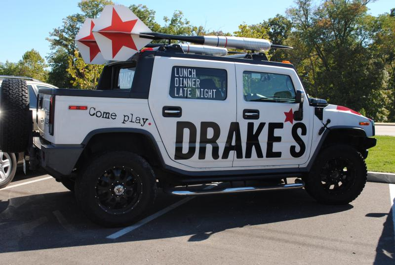To the Drakes-mobile!