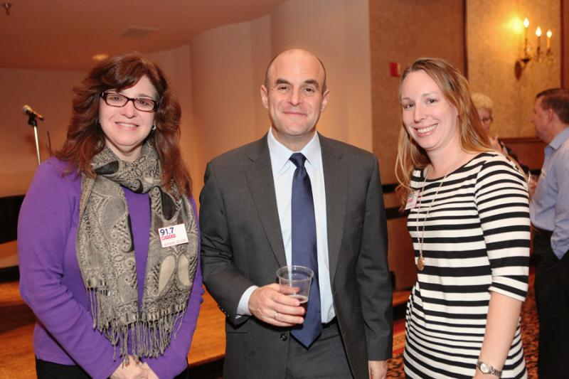 Peter Sagal with WVXU's Maryanne Zeleznik and Tana Weingartner