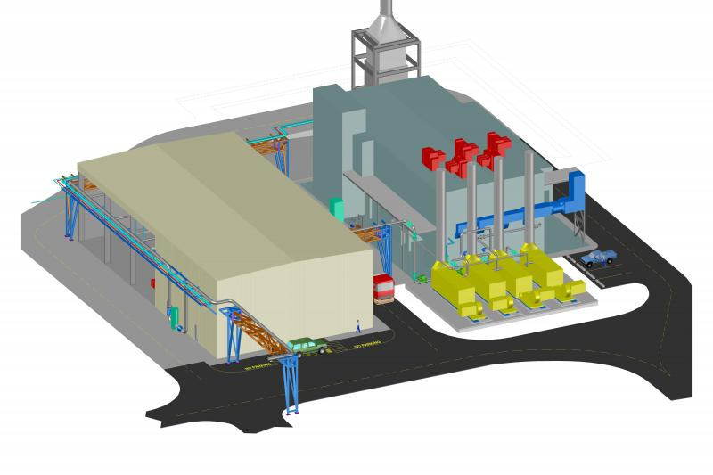 Rendering of the new $100M combustion laboratory at GE
