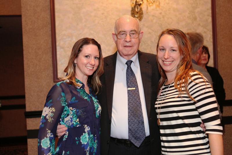Carl Kasell with Kelly Dobos and WVXU's Tana Weingartner