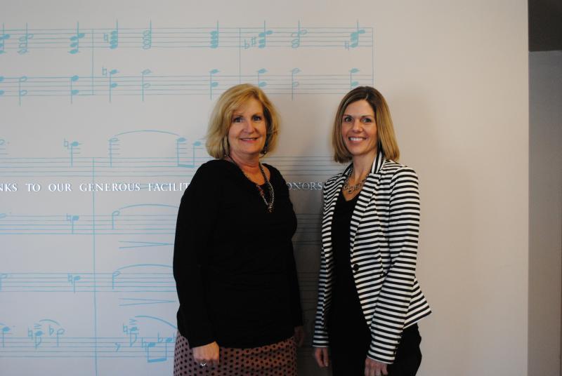Cincinnati State's Linda Pohlgeers and Gretchen Cook