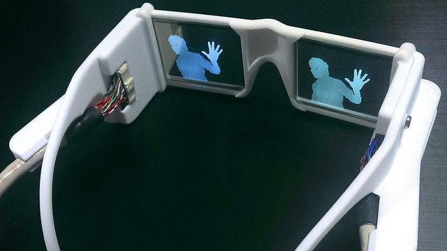 Scientist Stephen Hicks developed the glasses that use two cameras in combination with an infrared projector to detect objects.