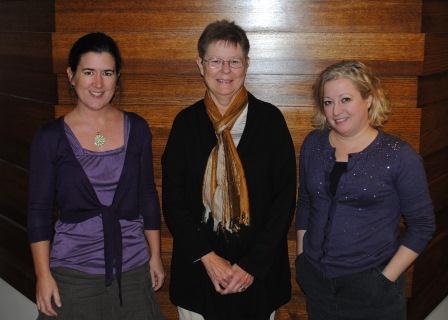Emilie Johnson, Donna Kremer and Tricia Suit