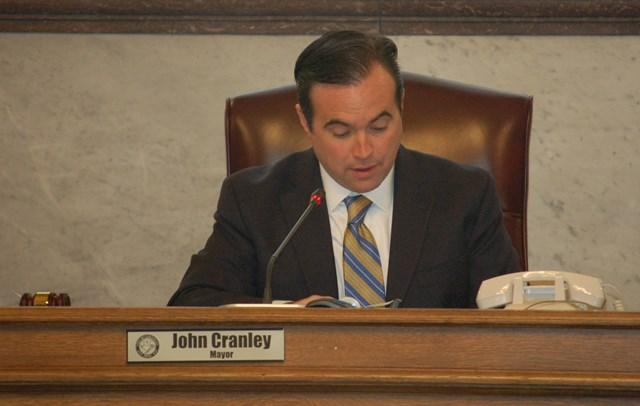 New Cincinnati mayor John Cranley shortly after taking office.