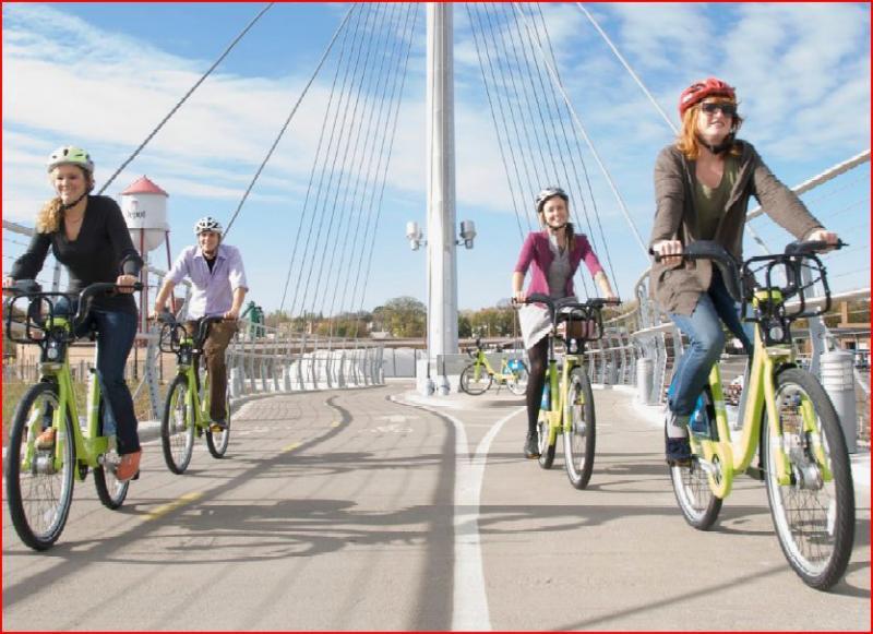 Minneaopolis has 1300 bikes.