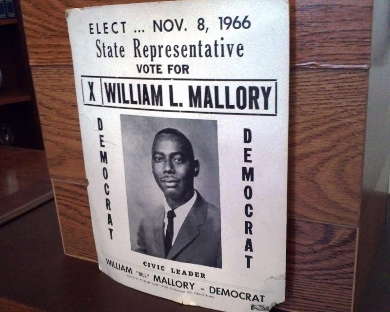 An early campaign poster for William Mallory Sr.