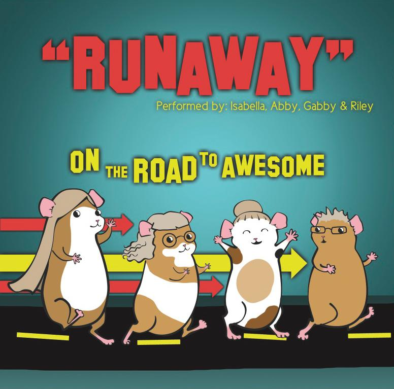 """Abby picked 'runaway' and I [Isabella] picked 'hamsters' and then we put it together, Runaway Hamsters."""