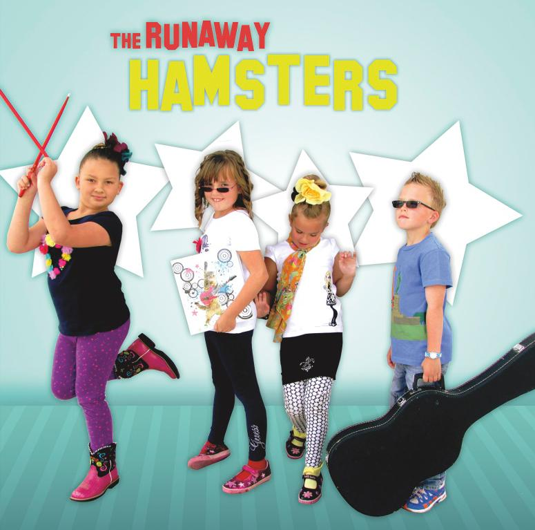 The Runaway Hamsters are siblings 9-year-old Isabella, and 8-year-old triplets Abby, Gabby and Riley Keen.