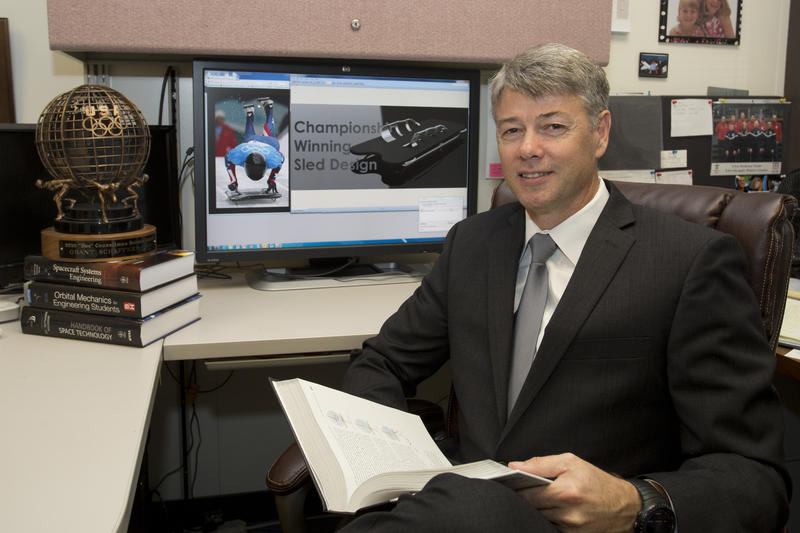 "Dr. Grant Schaffner designed the new sled and for his work on the 2010 sled received the U.S. Olympic ""Doc"" Counsilman Science Award for his innovations and contributions to sport science."