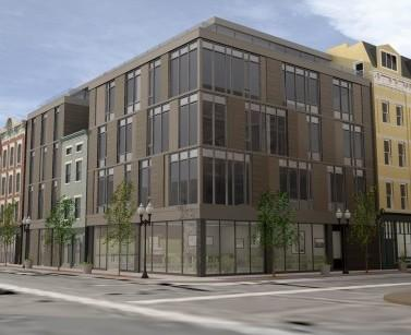 The buildings and vacant lots located on Vine and 5 W. 15th Street will be redeveloped into a single five-story mixed-use property.