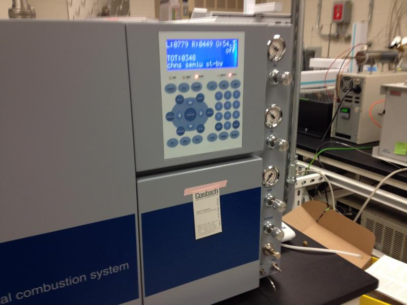 UC's new isotope ratio mass spectrometer.