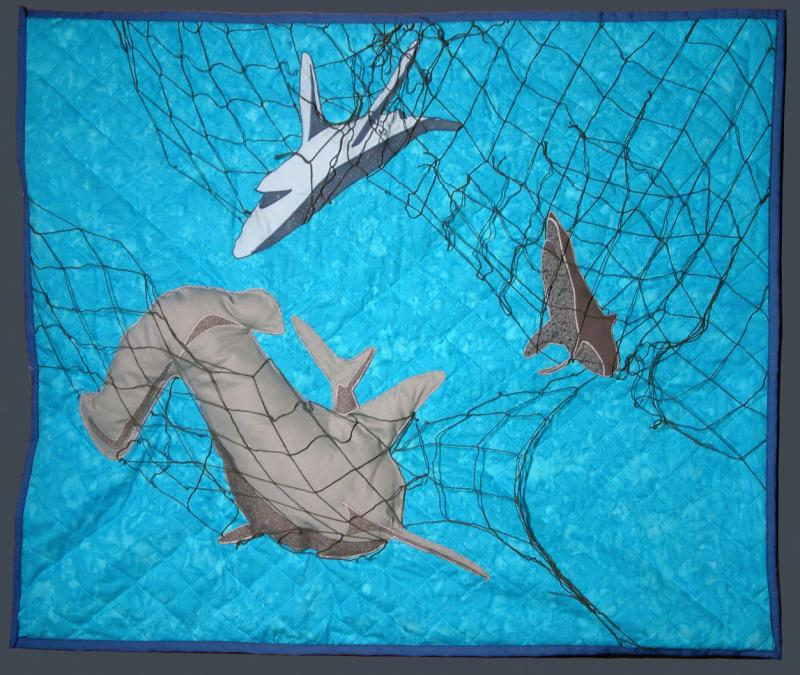 Jessica Adanich uses soft textures to help the viewer re-think their notion of sharks