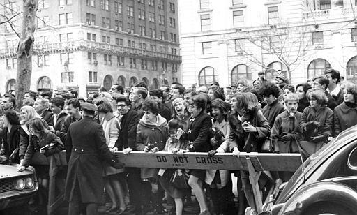 Fans by the hundreds hounded the Fab Four wherever they went