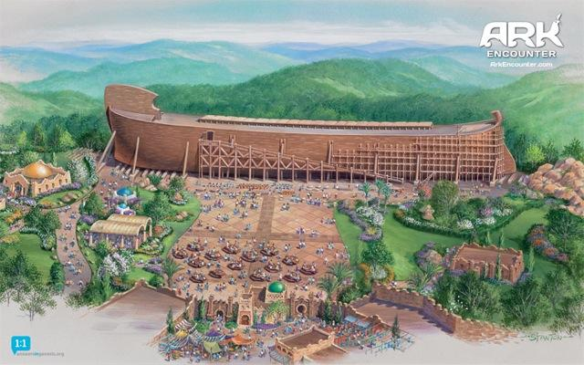 Answers in Genesis announced plans in 2010 to build this ark replica near Williamstown, Kentucky.