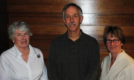 Beekeepers Sandra Murphy, Ray Babcock and Liz Tilton.