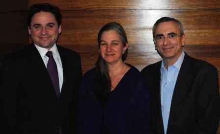 Ryan Adcock, Dr. Elizabeth Kelly and Dr. James M. Greenberg