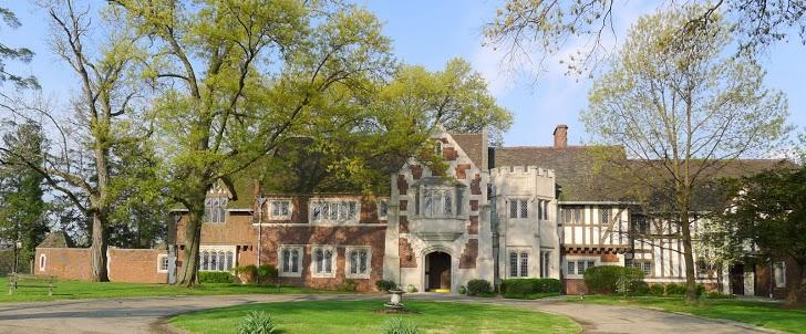 Front Facade and Entrance of Pinecroft - the Estate of Powel Crosley, Jr.