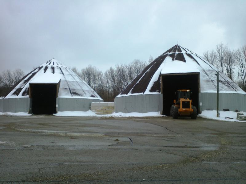 Salt and sand piles are running low on supplies at this station in Northern Hamilton County.