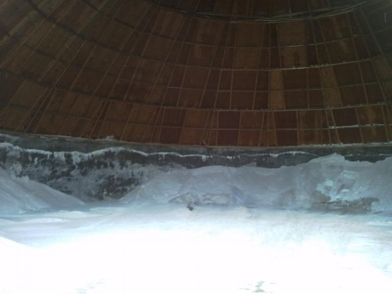Supply is low at this salt pile in Northern Hamilton County.