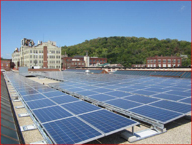 Beekman Street Garage and the  Business Development and Permit Center now have solar panels.