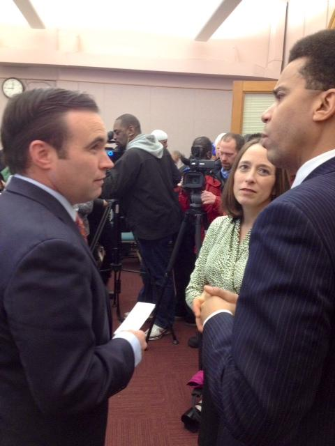 Mayor John Cranley and council members Amy Murray and Christopher Smitherman