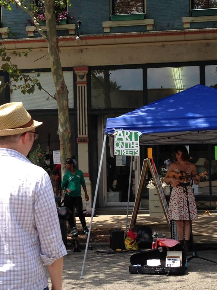 Art on the Streets also provides wonderful, lighthearted entertainment at events like Second Sunday on Main.