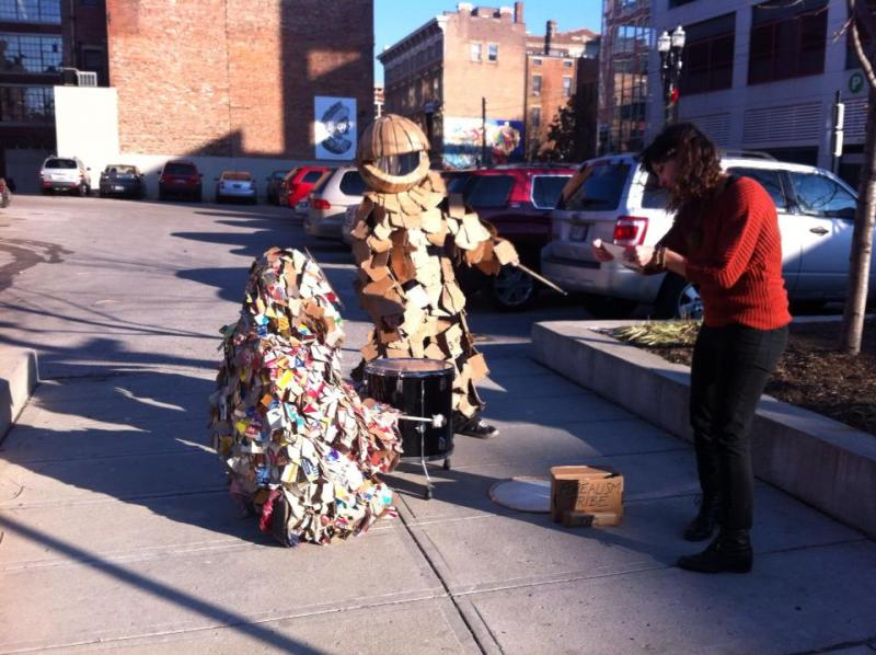 Art on the Streets will sometimes team up with Forealism-Tribe to bring these engaging characters to public events.