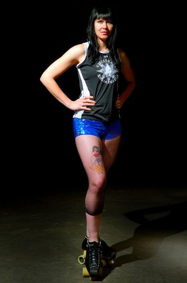 Cincinnati Rollergirl Sydney Greathouse, team name Big Ugly.