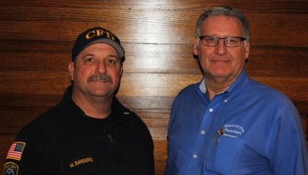 Cincinnati Fire Department's Lt. Mark Sanders and Mike Kappa, retired district chief and current CPR/AED instructor.