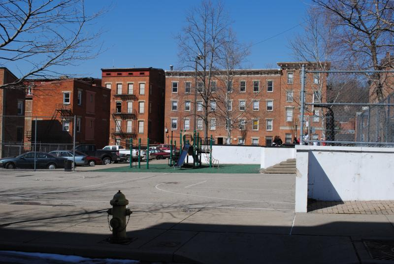A plaza at the corner of Spring and 12th Streets in Pendleton will soon be remade