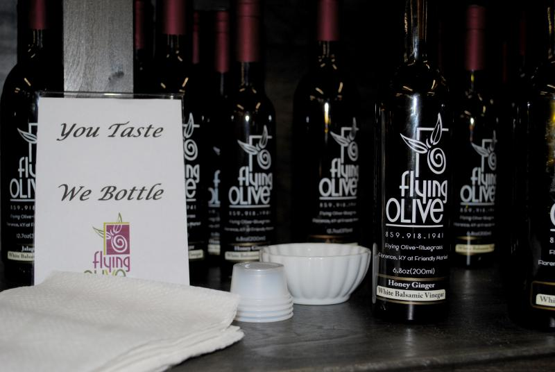 Flying Olive creates a delicious variety of infused oils.