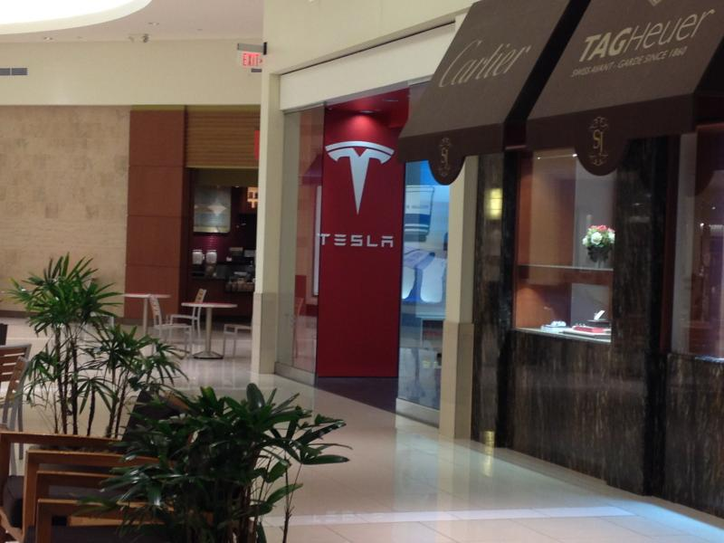 The Kenwood Towne Center is one of two locations Tesla has in Ohio.
