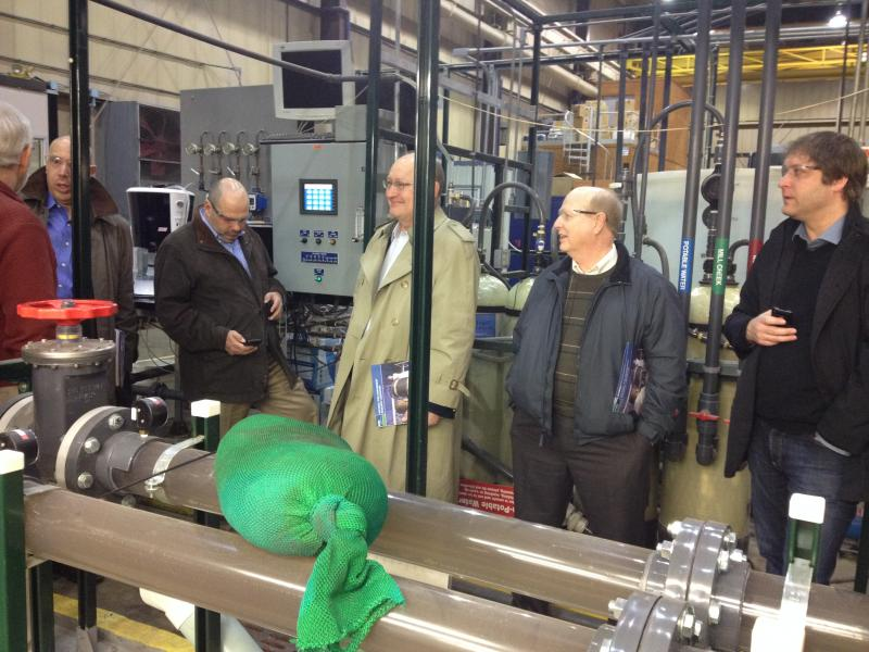 Water officials from around the country came to a Cincinnati EPA water technology test facility to get ideas.