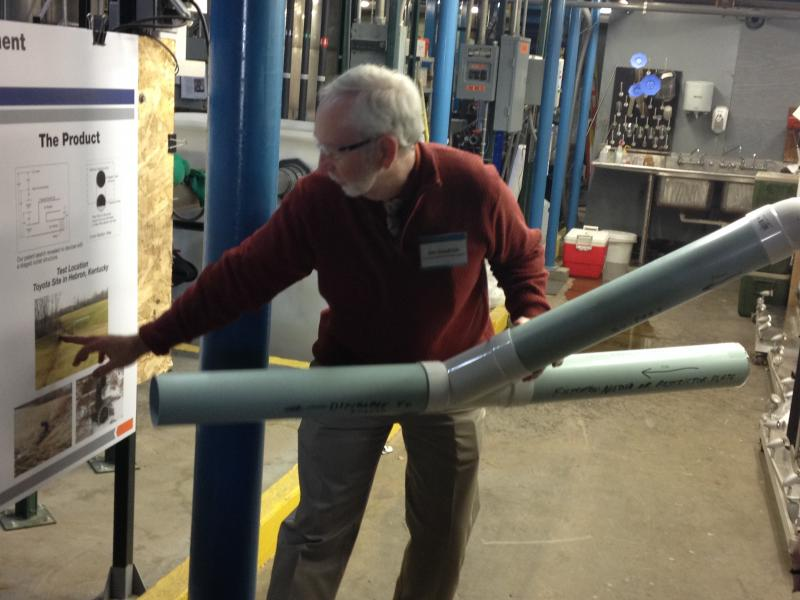 The EPA's Jim Goodrich shows off some of the technology.