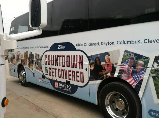 Enroll America's Countdown to #GetCovered Bus.