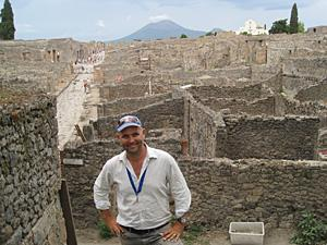 Dr Steven Ellis at the Pompeii archaeology site.
