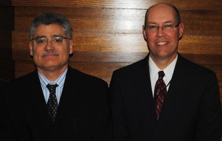 Dr. Isadore Rudnick and Steven Brokamp from SCPA.