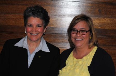 Elizabeth Sherwood and Melissa Wegman