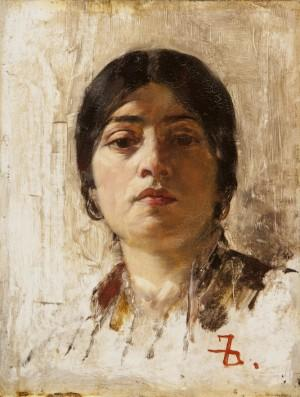 Frank Duveneck, An Italian Woman, about 1880, oil on panel. Taft Museum of Art, Gift of Stanley and Frances D. Cohen.