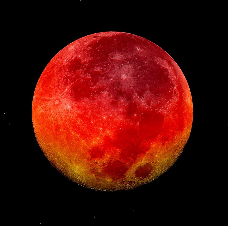 Total lunar eclipse takes place during the early morning hours of April 15.