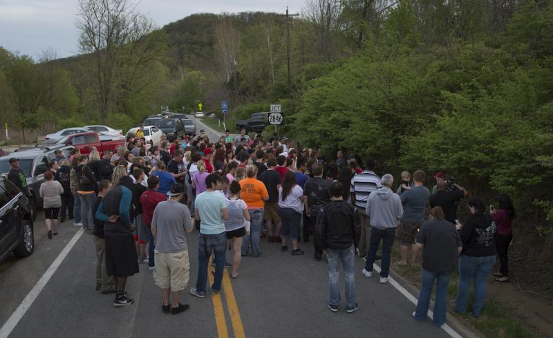 A roadside vigil along Route 8 in Hebron, KY shut down traffic as friends gathered to remember Samantha Ramsey.