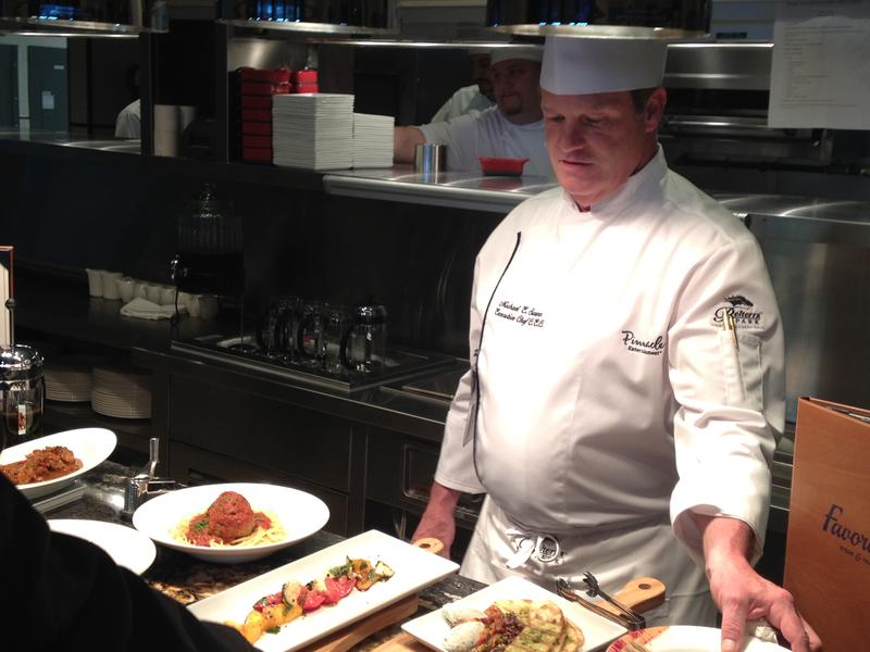 Chef Michael Swann shows off his culinary delights.