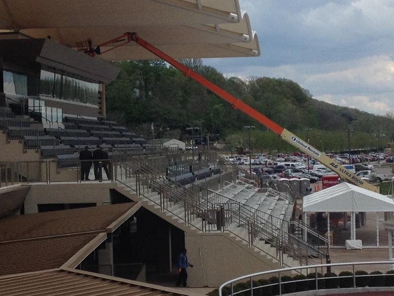 The grandstands are 4,500 square feet.