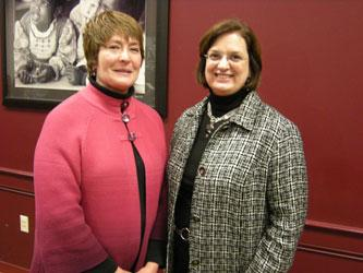 File photo of CPS Superintendent Mary Ronan and CFT President Julie Sellers.
