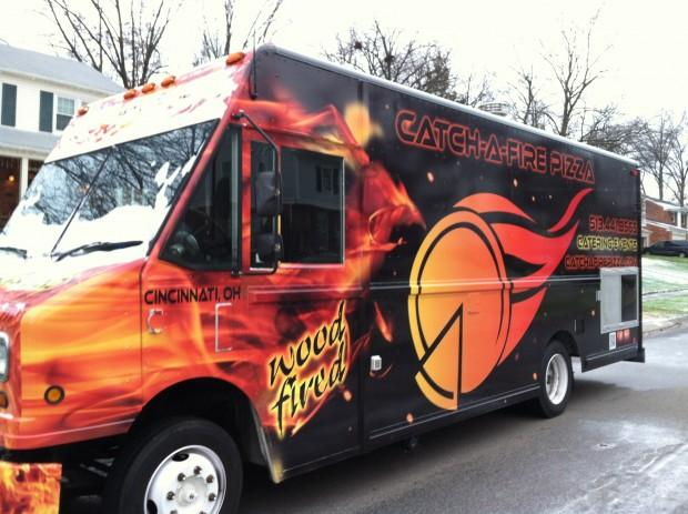 Catch-A-Fire Pizza truck